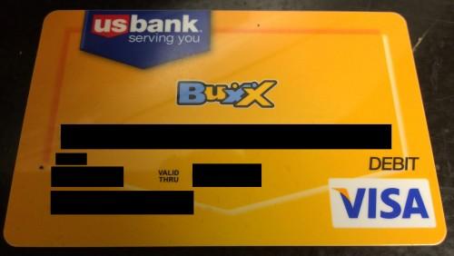 Visa Buxx Card