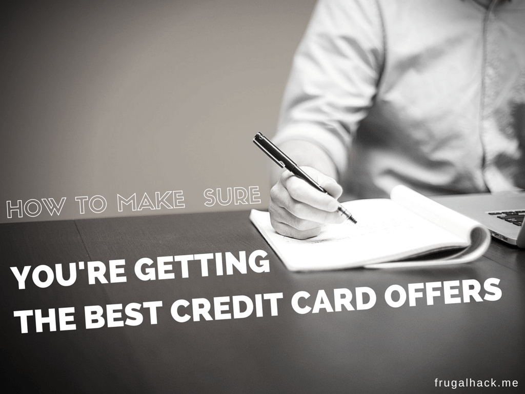 You're Getting the Best Credit Card