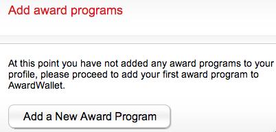 AwardWallet Add award