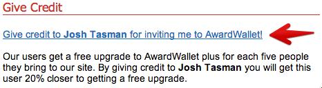 AwardWallet Invitation