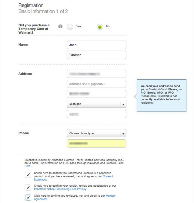 Register a Bluebird Account - frugalhack.me