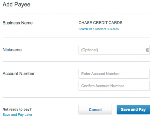 Add Chase1 Payee  Pay Bills  Serve from American Express