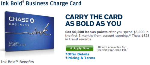 Chase Ink Bold, Business Charge Card  Chase.com