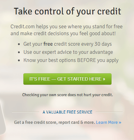 Credit.com Sign Up