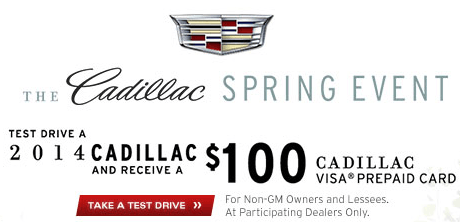 Current Offers  Cadillac