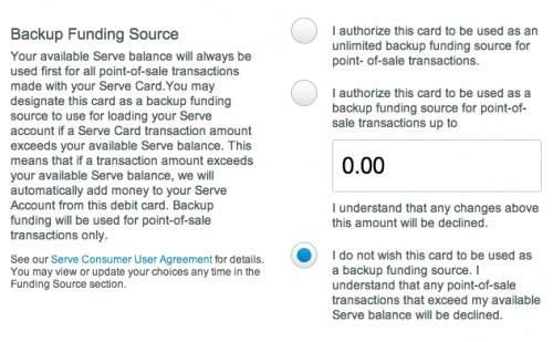 Link a Debit Card  Bank & Cards  Serve from American Express