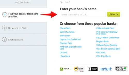 Plink Bank Info