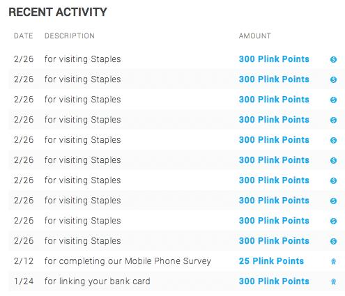 Plink activity