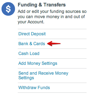 Settings  Serve from American Express banks and cards