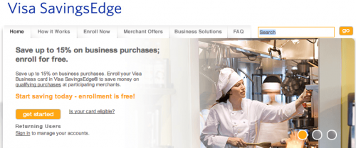 Welcome to Visa SavingsEdge