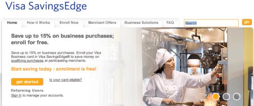 Welcome to Visa SavingsEdge