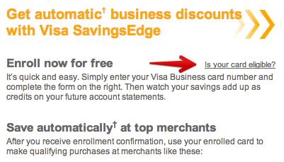 Welcome to Visa SavingsEdge intro