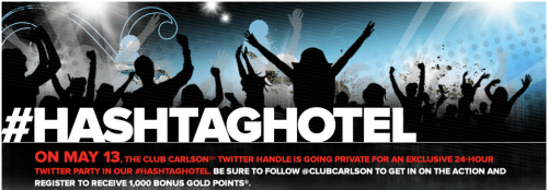 24-Hour Twitter Party by Club Carlson #HashtagHotel