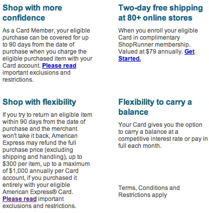 amex benefits