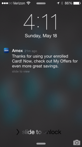 Amex Offer Confirmation