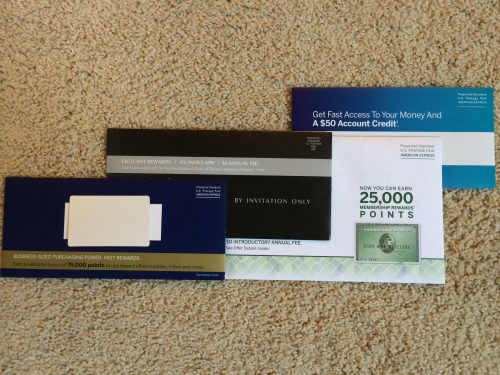 American Express Mailed Offers