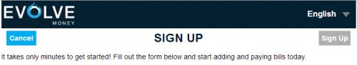 Evolve Money Sign-up