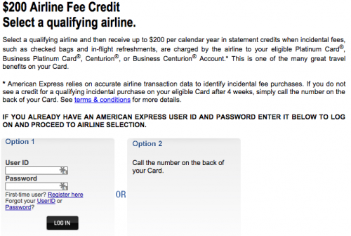 American Express Platinum Airline Choice