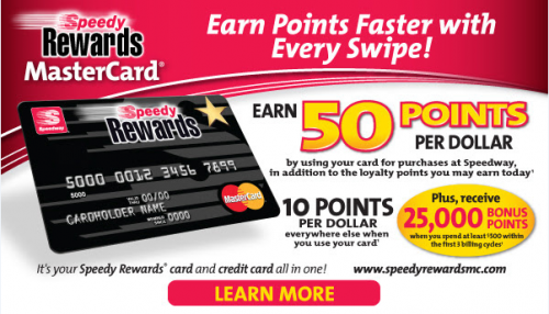 Speedy Rewards Mastercard Credit Card