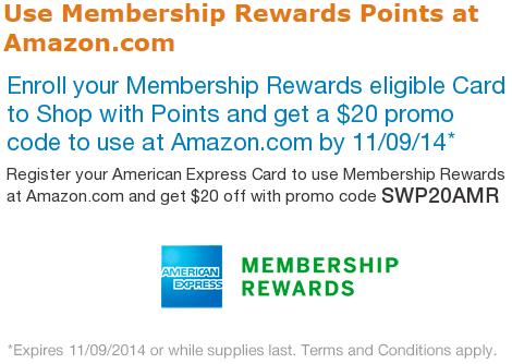 Amazon $20 American Express Promo