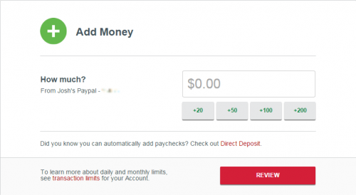 REDcard Load Money Debit Card