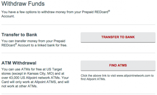 Transfer to Bank REDcard
