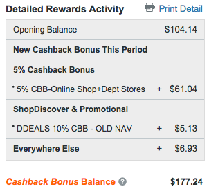 Discover Card Rewards Balance