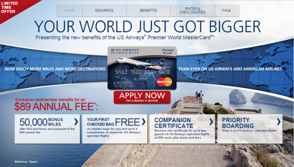 US Airways MasterCard Offer