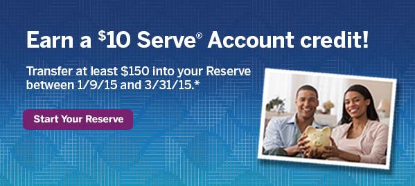 $10 Serve Credit Reserve
