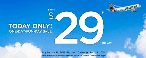 Frontier Airlines $29