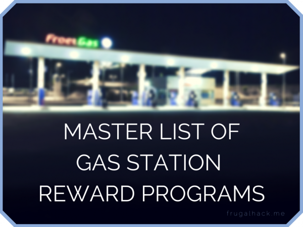 Master List of Gas Station Reward