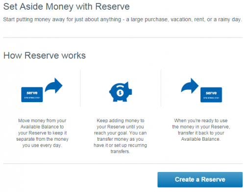 Serve Reserve Money