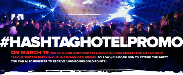 12-Hour Twitter Party by Club Carlson #HashtagHotelPromo