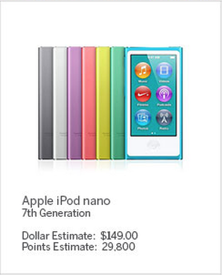 Shop with Membership Rewards® Points iPod Nano
